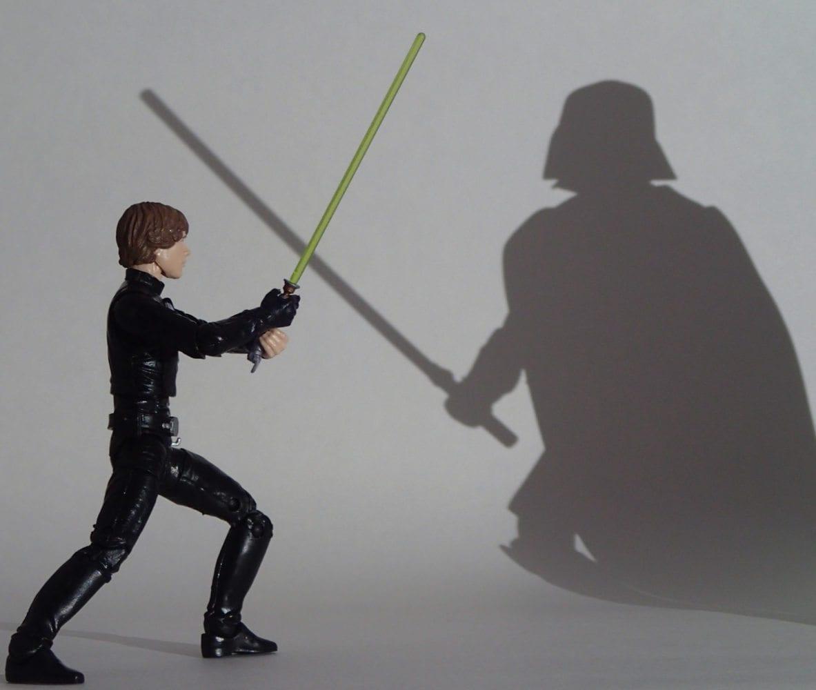 Luke and Shadow Vader