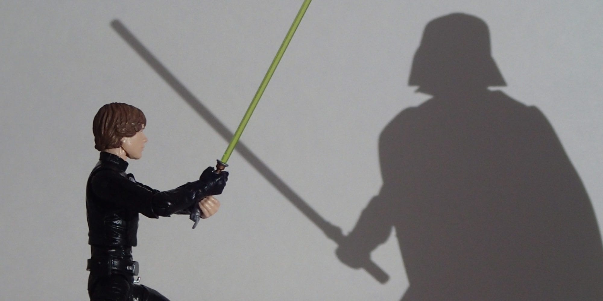 Photographic Plastic: Jedi Luke and Shadow Vader