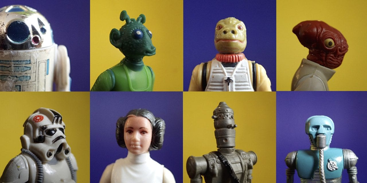 Kenner Star Wars action figures Photographic Plastic