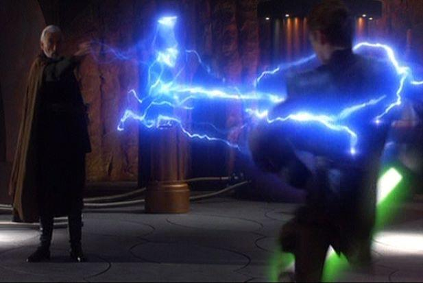 anakin electrocuted