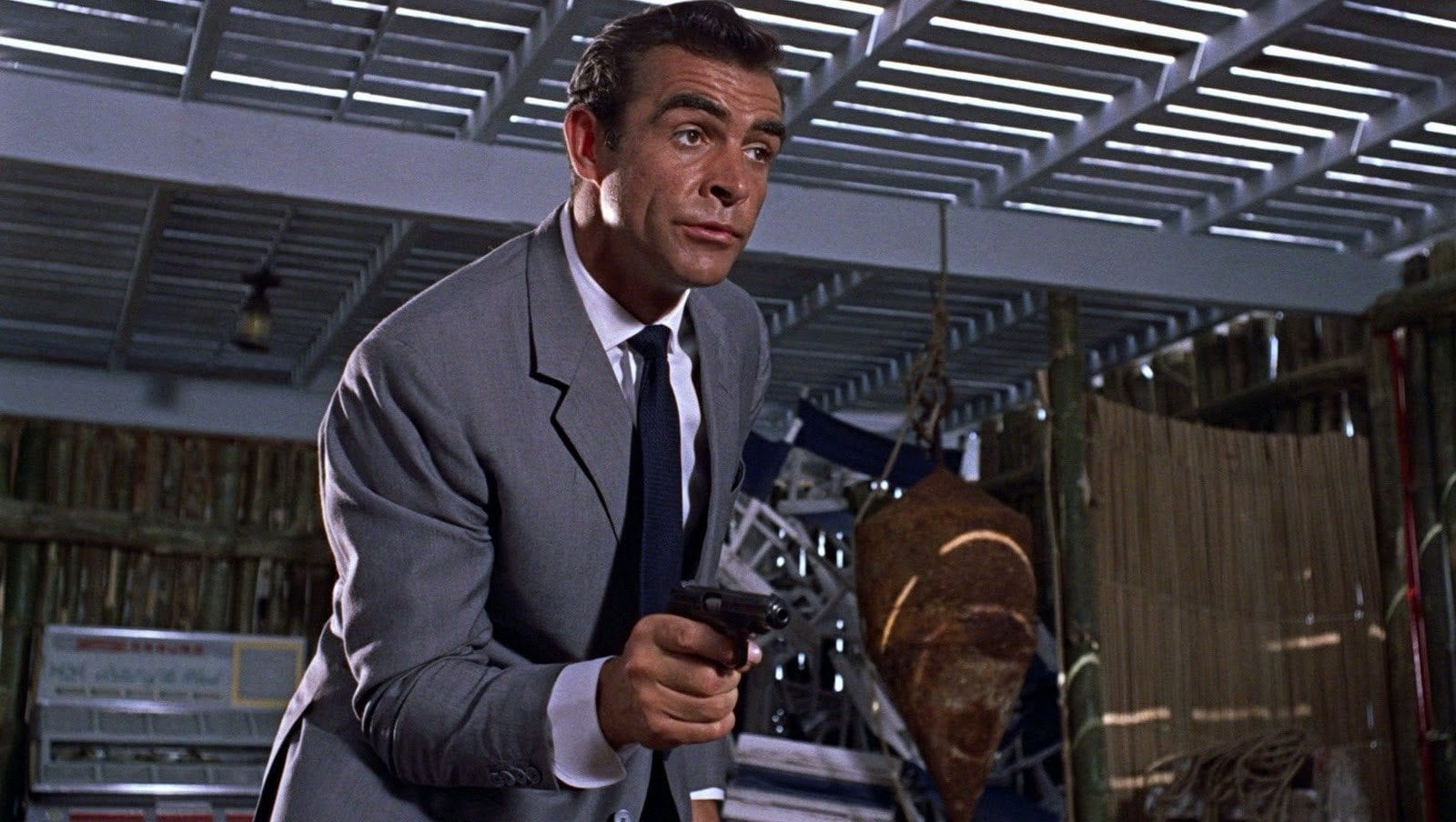 bond and gun, James Bond, Dr. No, Sean Connery, 007