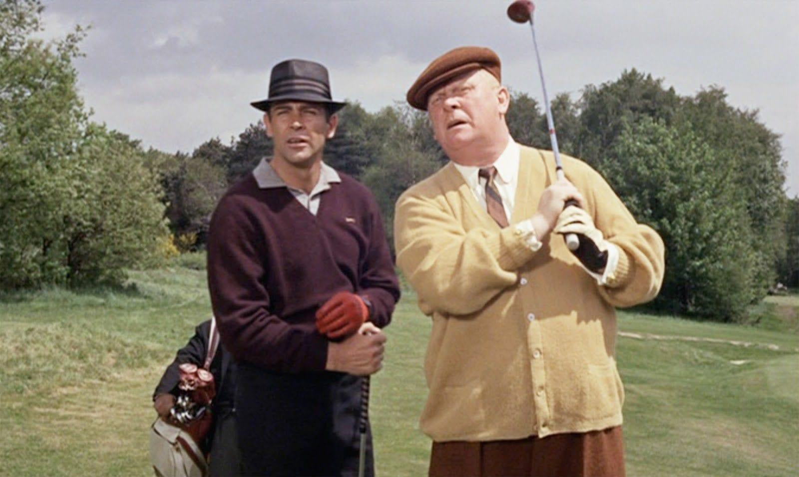 Goldfinger golfing