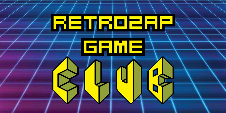 RetroZap Game Club banner retro game