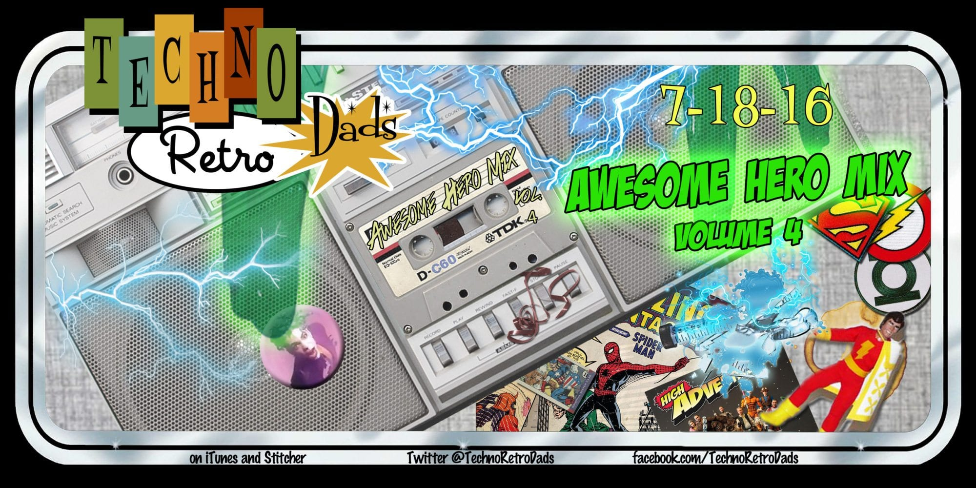 Awesome Hero Mix Vol 4 TechnoRetro Dads