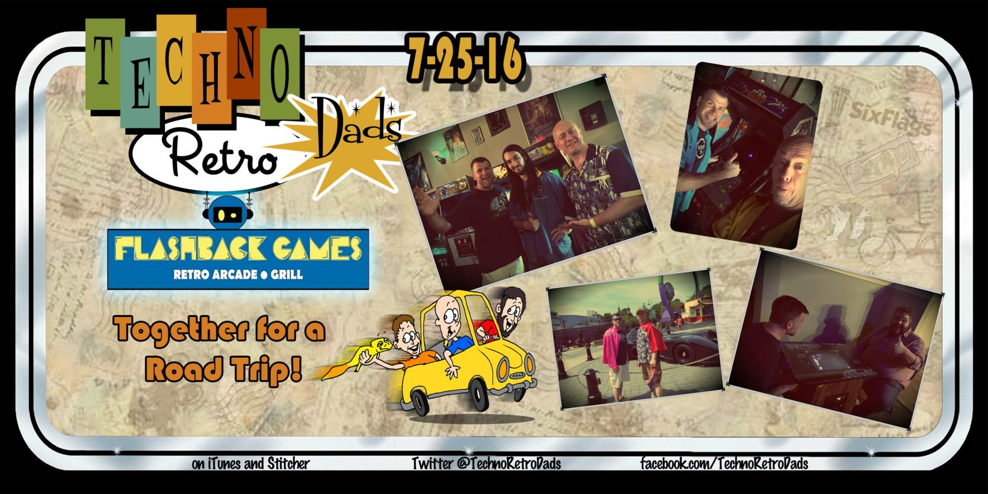 TechnoRetro Dads at Flashback Games Retro Arcade
