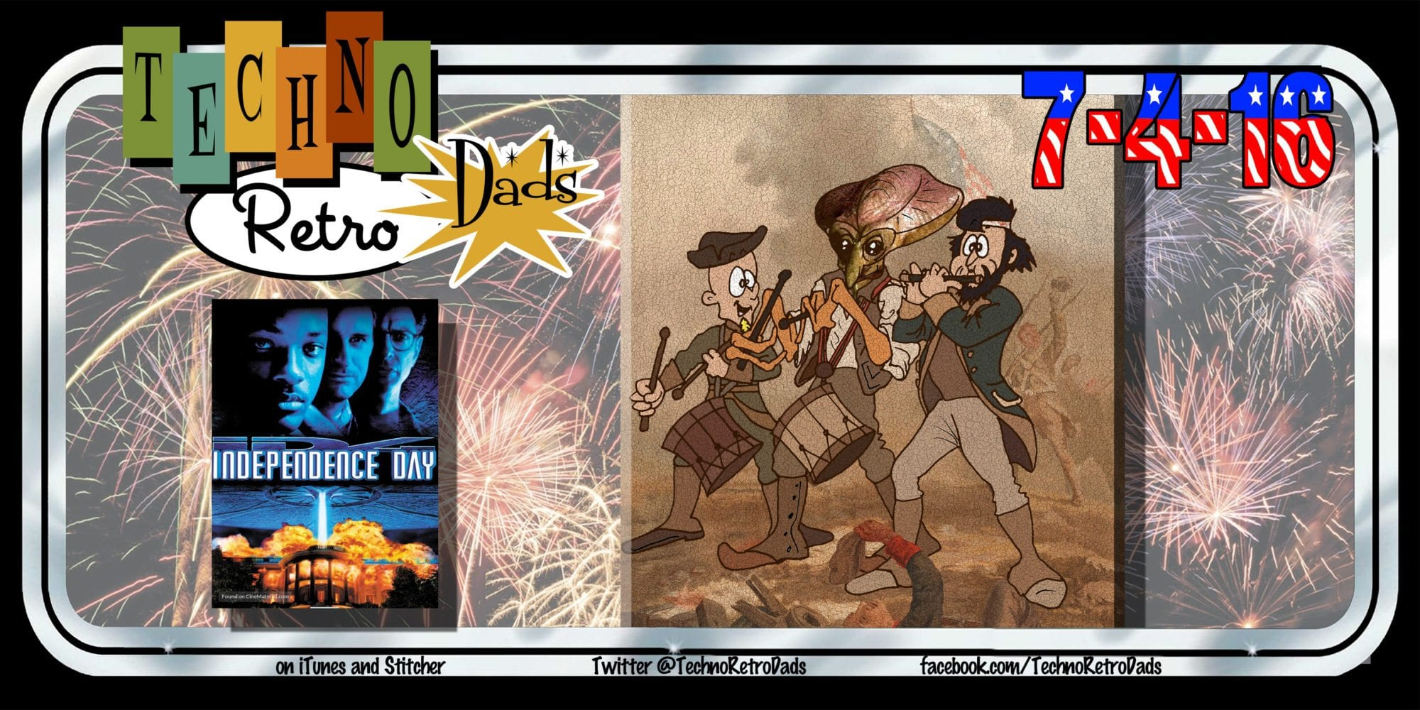 TechnoRetro Dads Independence Day