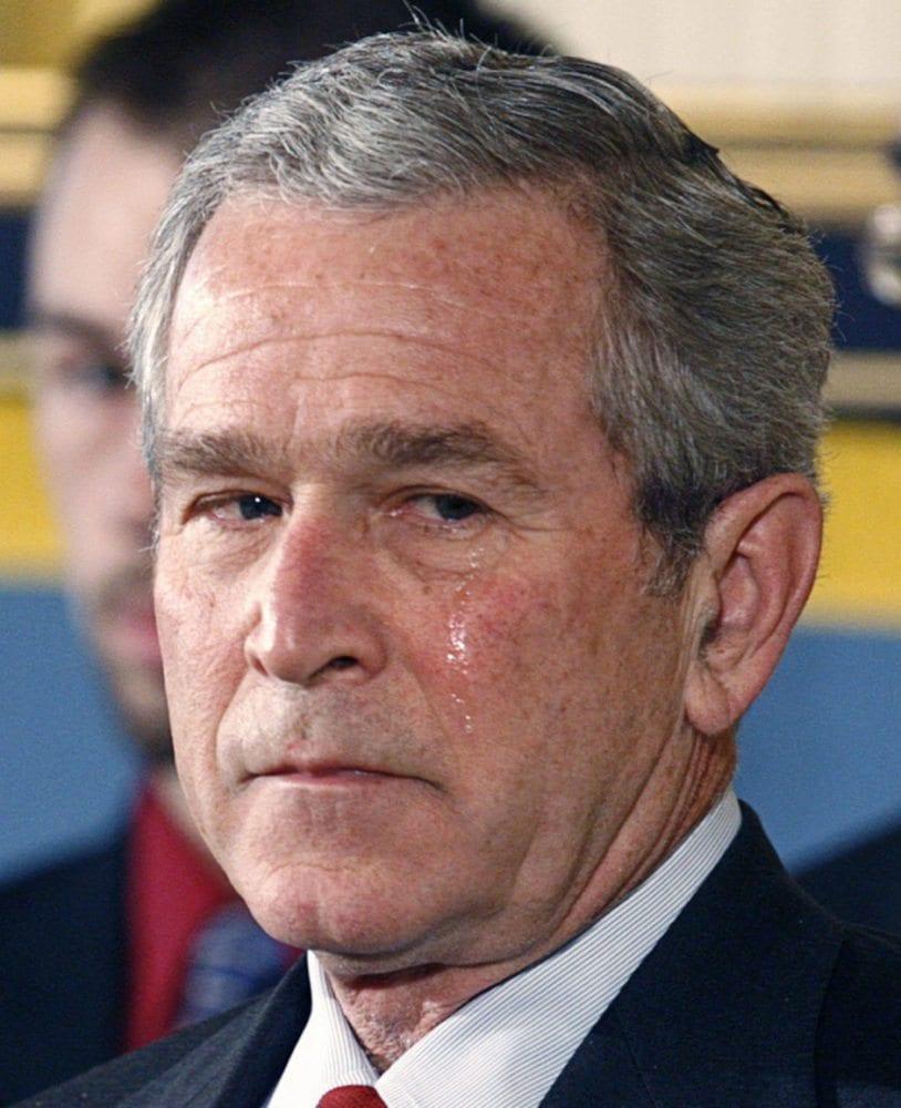 bush pissed off- Star Wars politics
