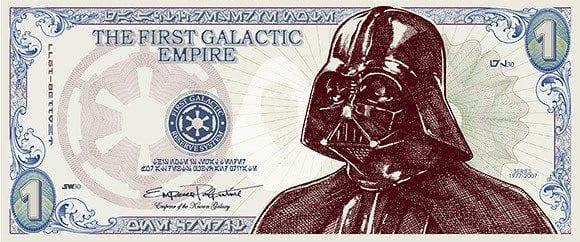Darth Vader money- Star Wars politics