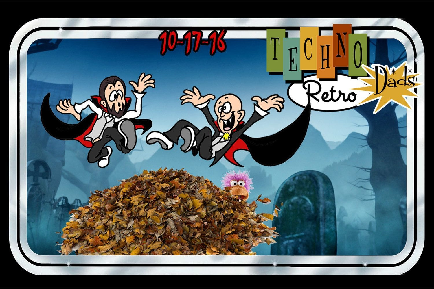 RetroZap TechnoRetro Dads Falling Leaves