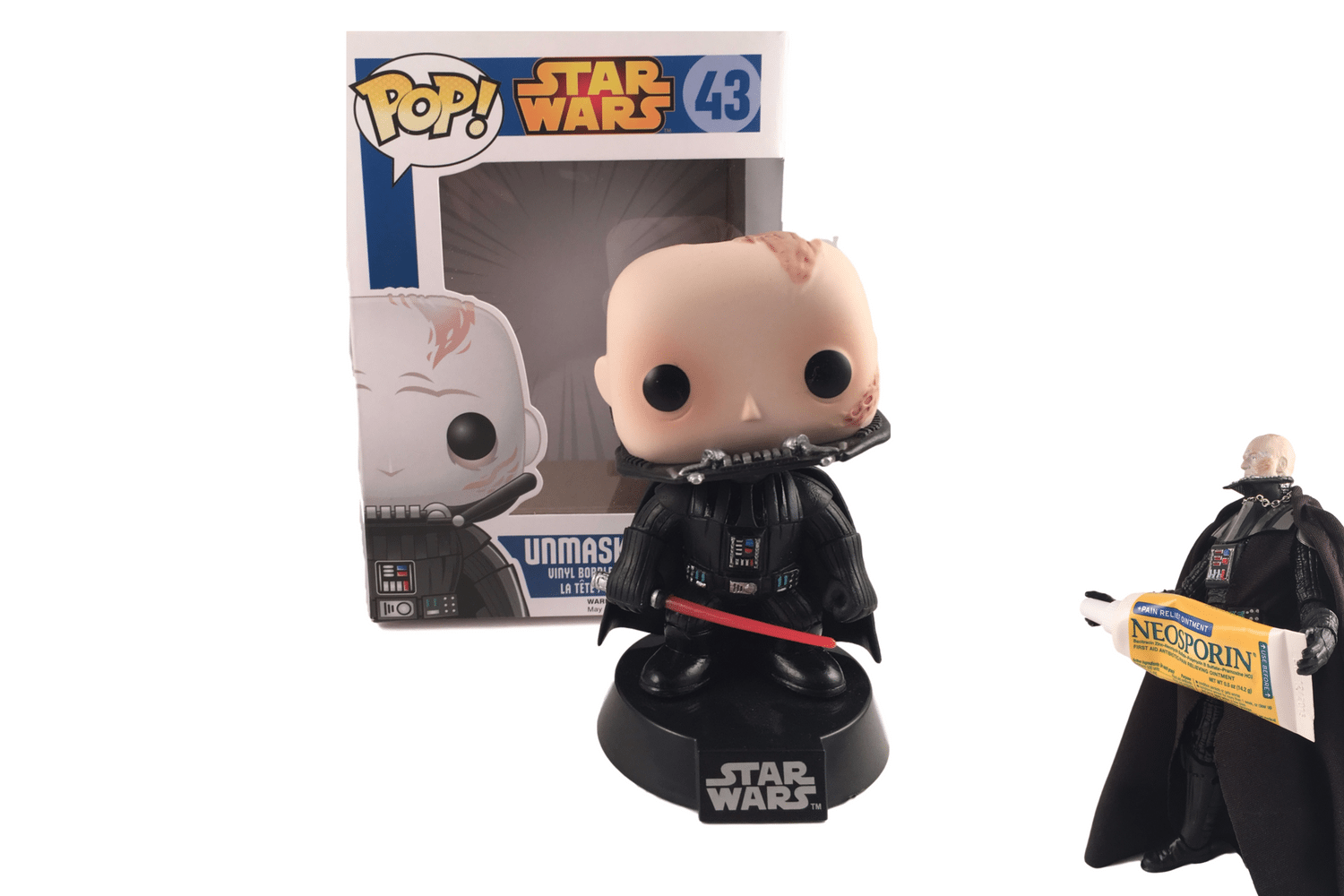 Humpty Dumpty sat on a wall...Unmasked Vader is a Pop for all.