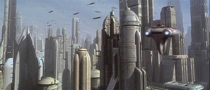 prequel trilogy worlds - Coruscant day