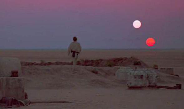 prequel trilogy worlds - Tatooine Twin Suns