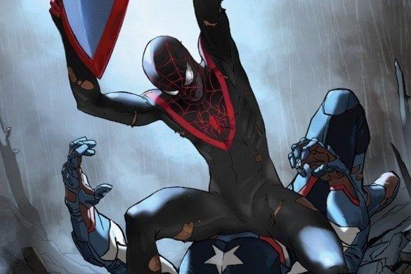 Civil War II #6 Miles Morales attack Captain America
