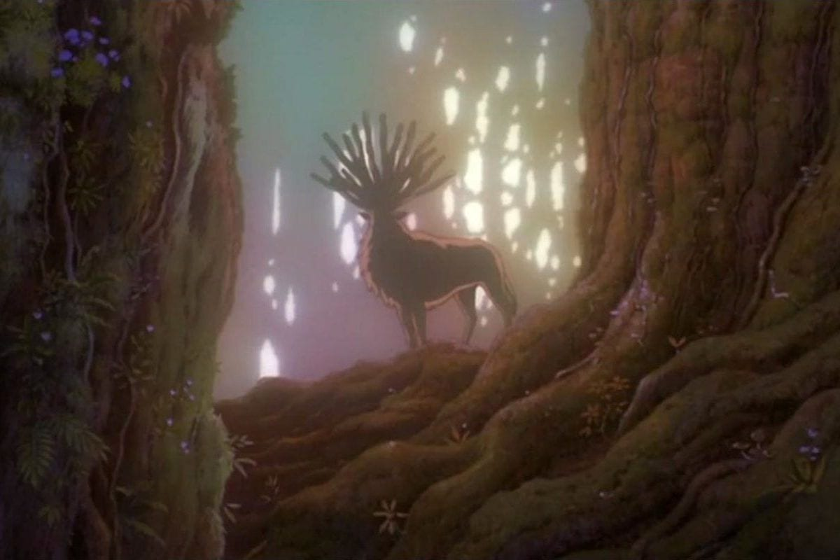 Spirit Of The Bendu In Princess Mononoke Retrozap