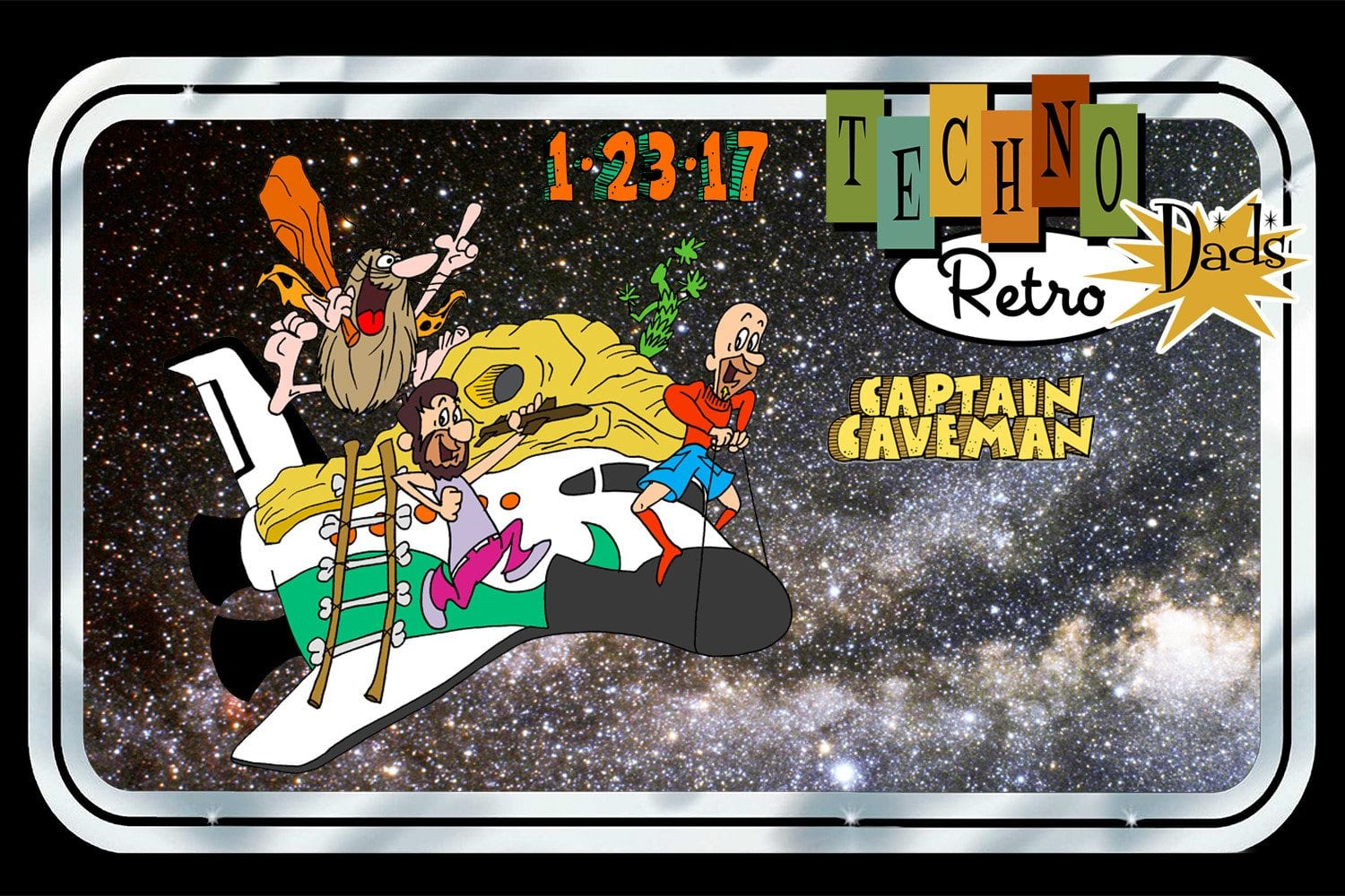TechnoRetro Dads Captain Caveman