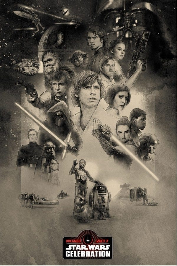 Starships, Sabers, and Scoundrels - Star Wars Celebration Orlando - Key Art
