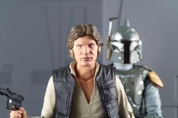 SH Figuarts Han Solo Figuarts Han Solo and Mafex Boba Fett