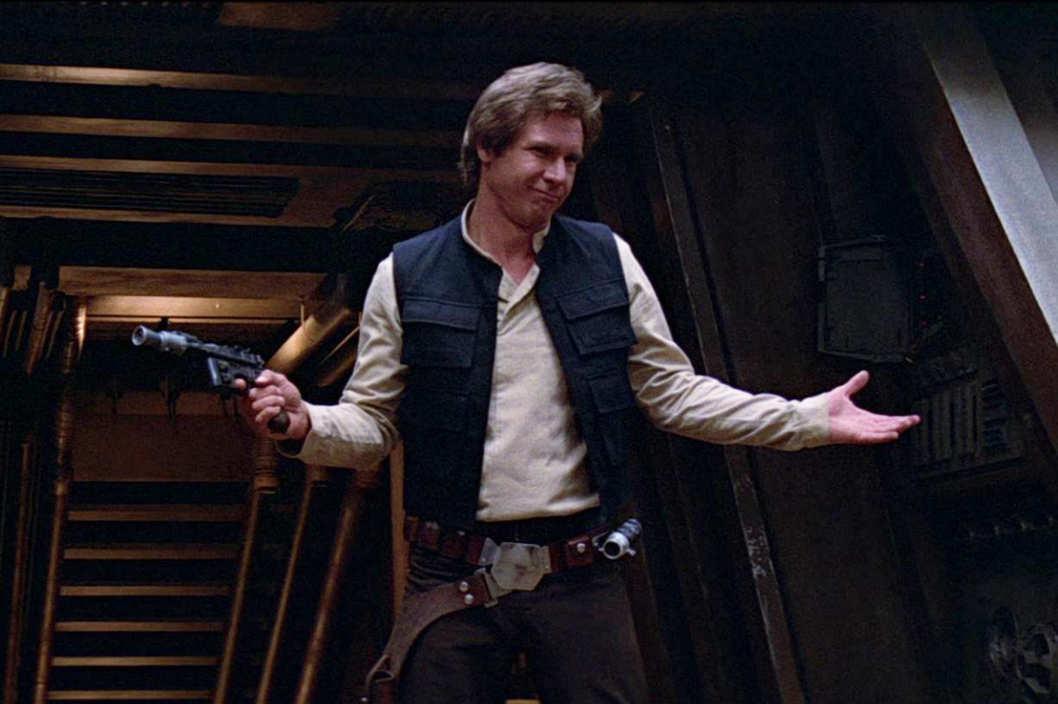 Star Wars plot holes - han solo shrug