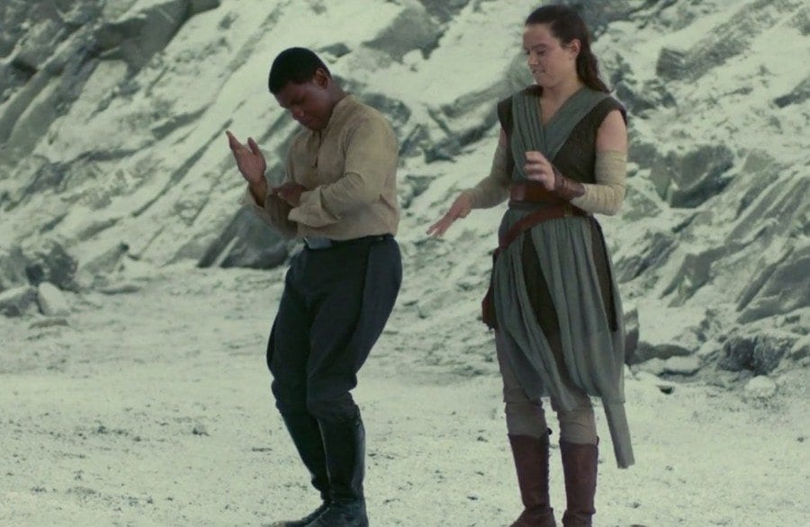 Starships, Sabers, and Scoundrels Show 34 - Porg Hunters of Texas -Finn and Rey Dancing