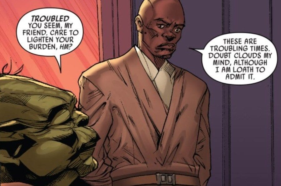 Mace Windu #1 - Mace and Yoda confer