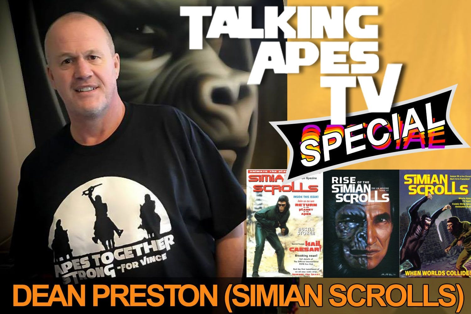 Talking Apes TV Special: Dean Preston - Simian Scrolls