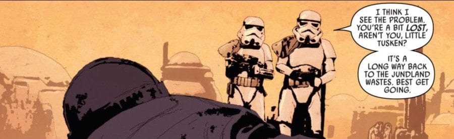 Star Wars #37 - Stormtroopers confront a Tusken