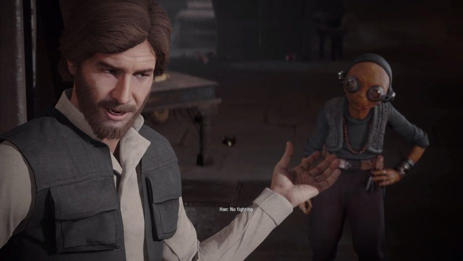 Battlefront II Han with Beard