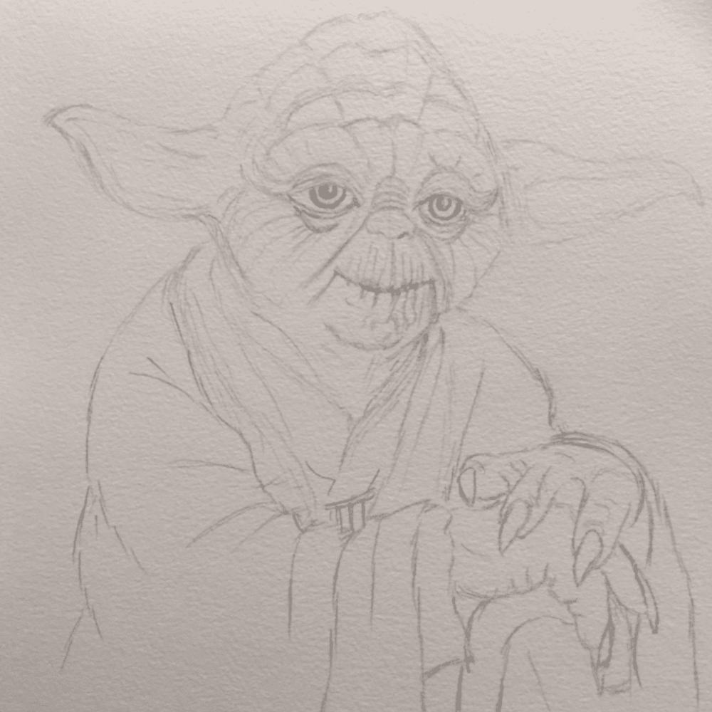Master Yoda Pencil Sketch