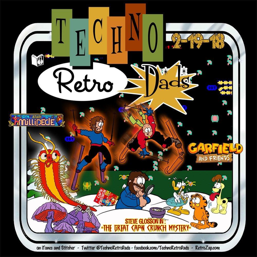 TechnoRetro Dads Garfield, Cap'n Crunch, and Millipede