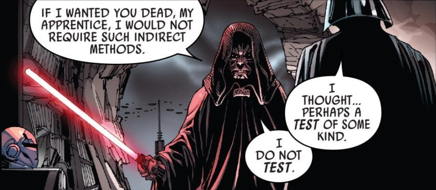 Darth Vader #12 The Rule of Five Part II - Vader and the Emperor