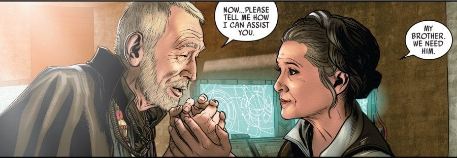 Poe Dameron #25 Leia and Lor San Tekka