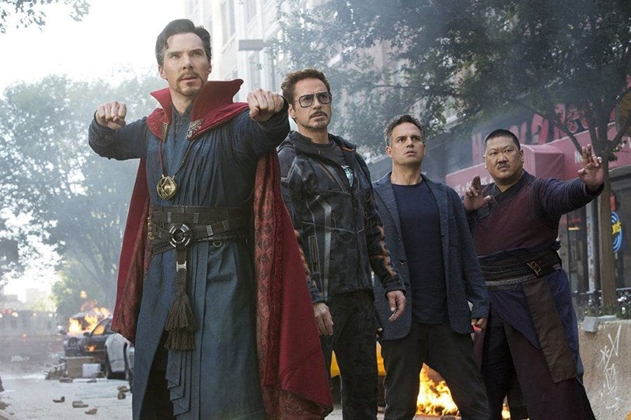 Infinity War - Dr. Strange, Iron Man, Bruce Banner, and Wong