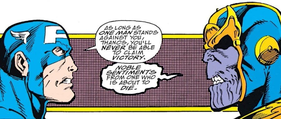The Infinity Gauntlet #4 - Captain America vs Thanos