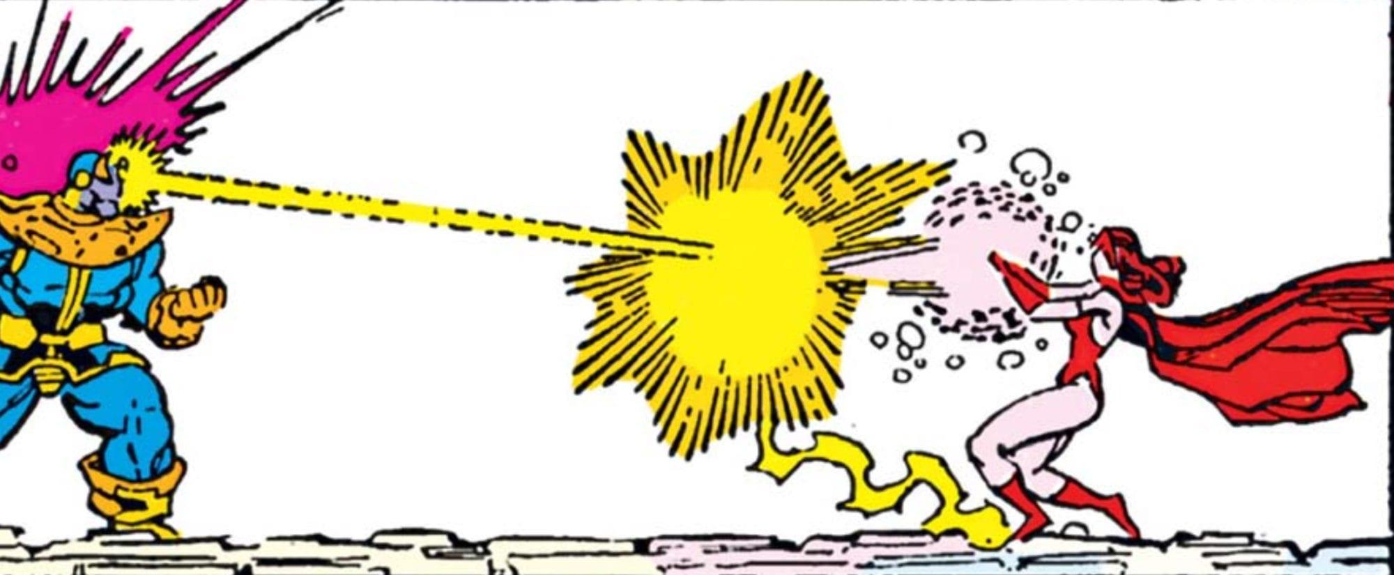 The Infinity Gauntlet #4 - Thanos vs Wanda