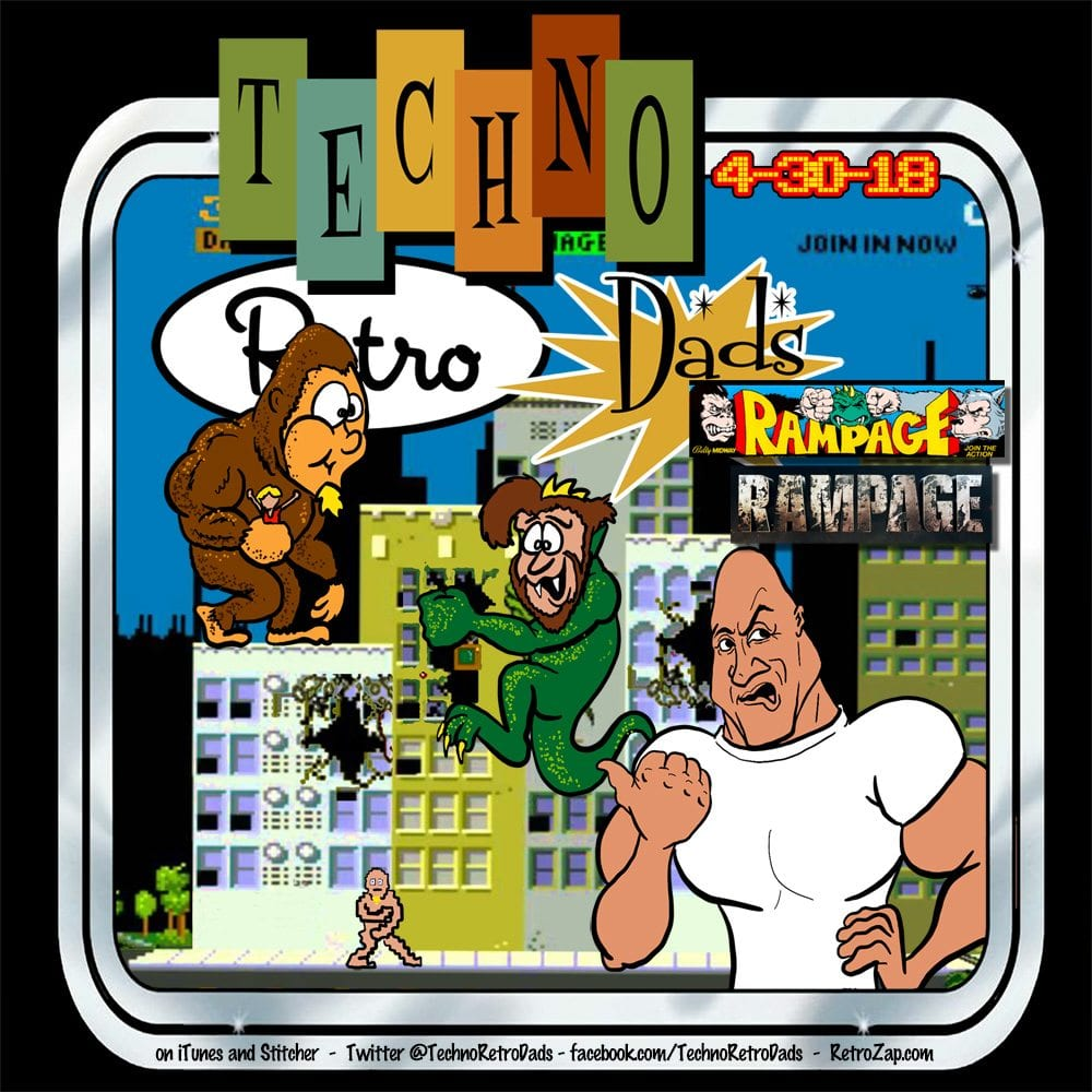 The Rock, Dwayne Johnson, Rampage, TechnoRetro Dads, shazbazzar, JediShua