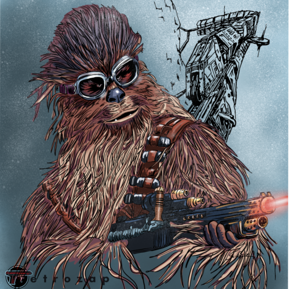 Chewie in Goggles