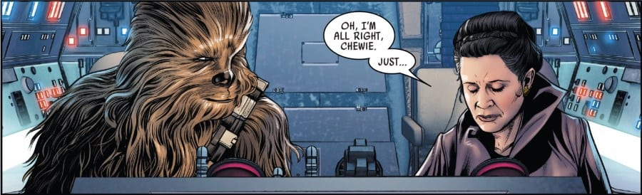 Poe Dameron #27 - Leia and Chewbacca mourn Han