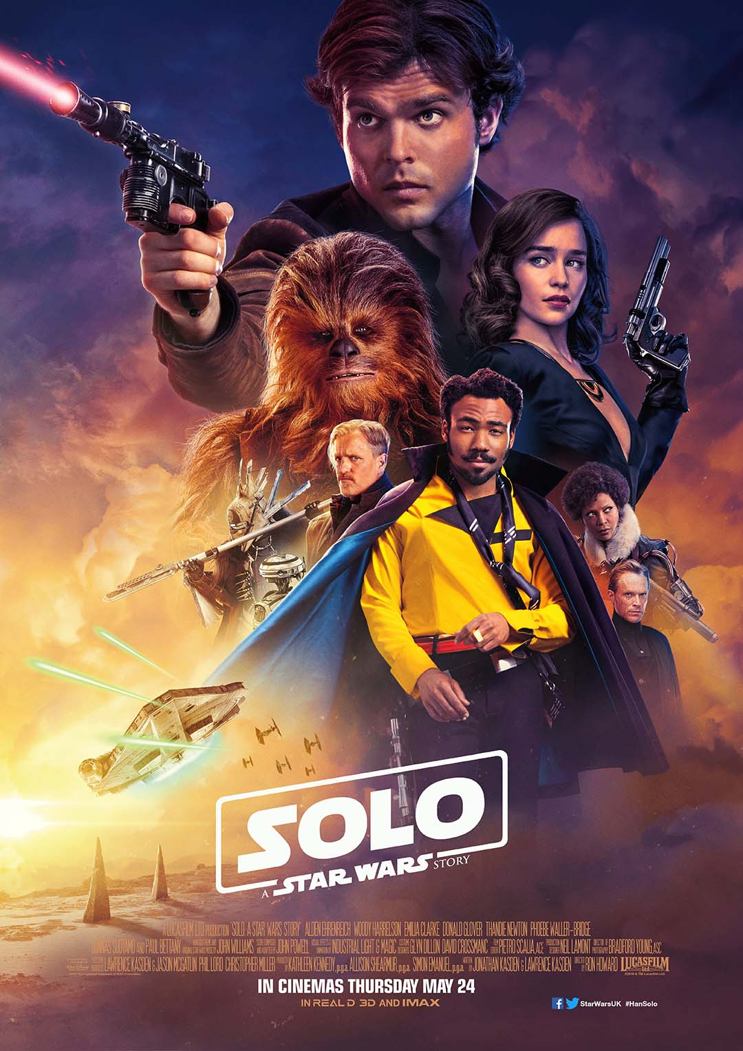 Solo A Star Wars Story UK Theatrical Poster Ron Howard and company recapture some of the old magic that made the Star Wars saga legendary in this exciting blockbuster Solo: A Star Wars Story.