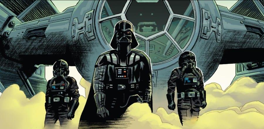 Star Wars Annual #4 - Vader arrives on Hradeek