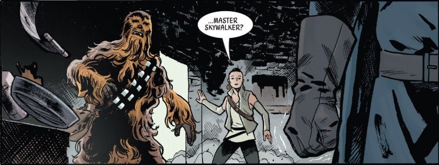 The Last Jedi #1 - Rey and Chewbacca