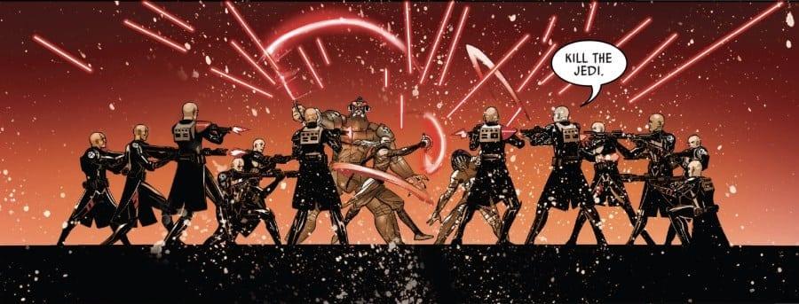 Darth Vader #17 - Burning Seas Part V - the Inquisitors vs the Clones