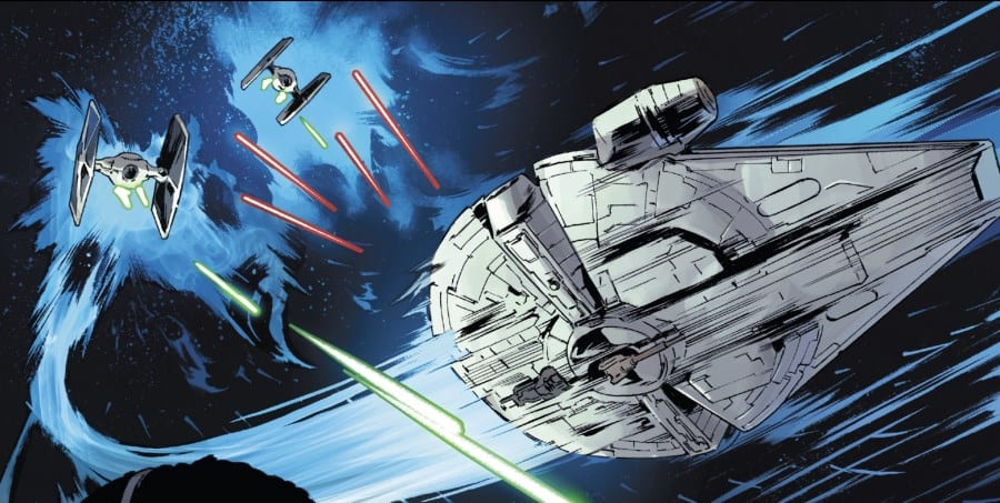 Lando: Double or Nothing Part I - The Falcon evades TIE fighters