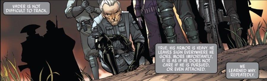 Darth Vader #18 Bad Ground - Tarkin tracks Vader