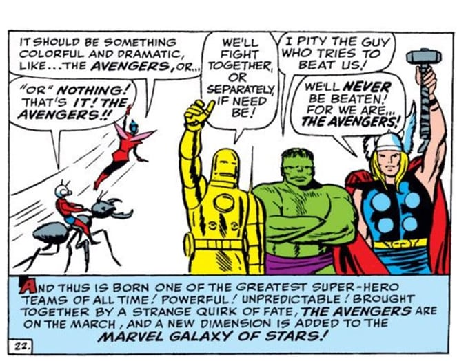 Marvel Comics of 1963 Avengers