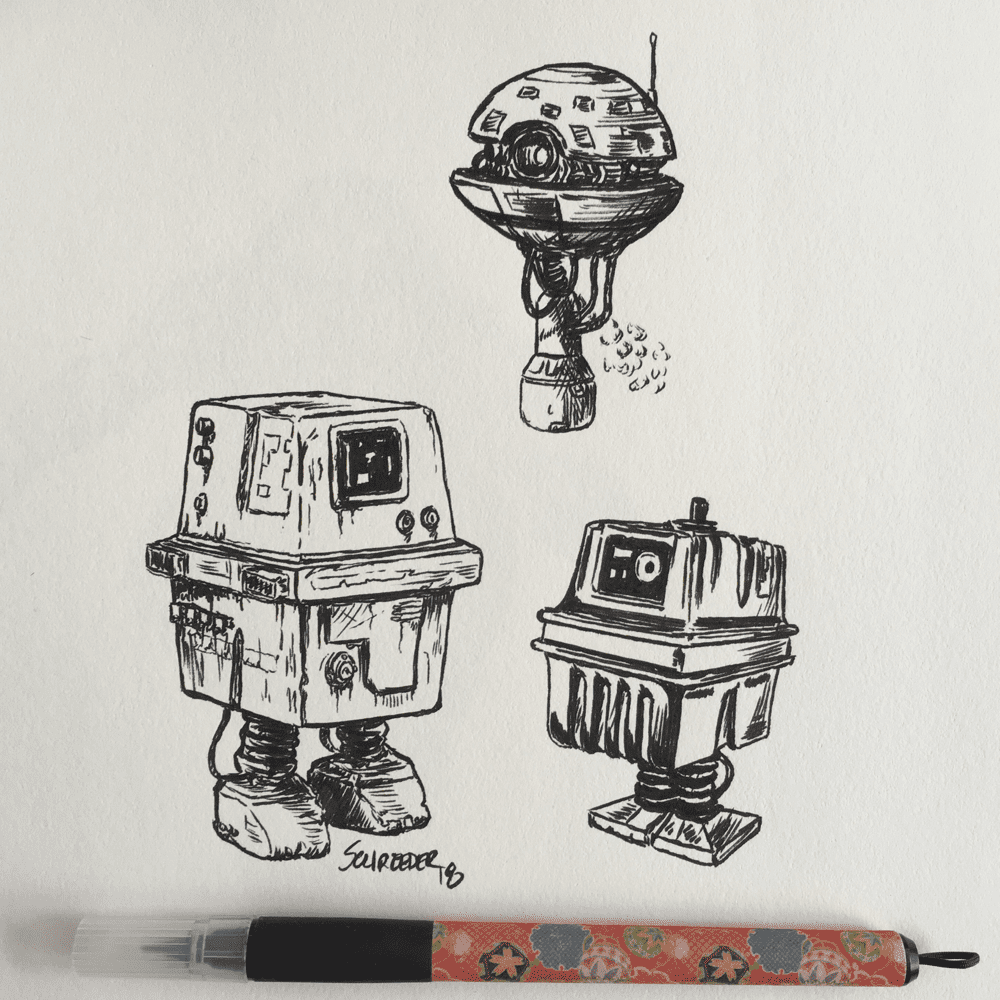 Day 7: Exhausted If you find yourself exhausted, here's a few gonk droids to power you up! Gonk!