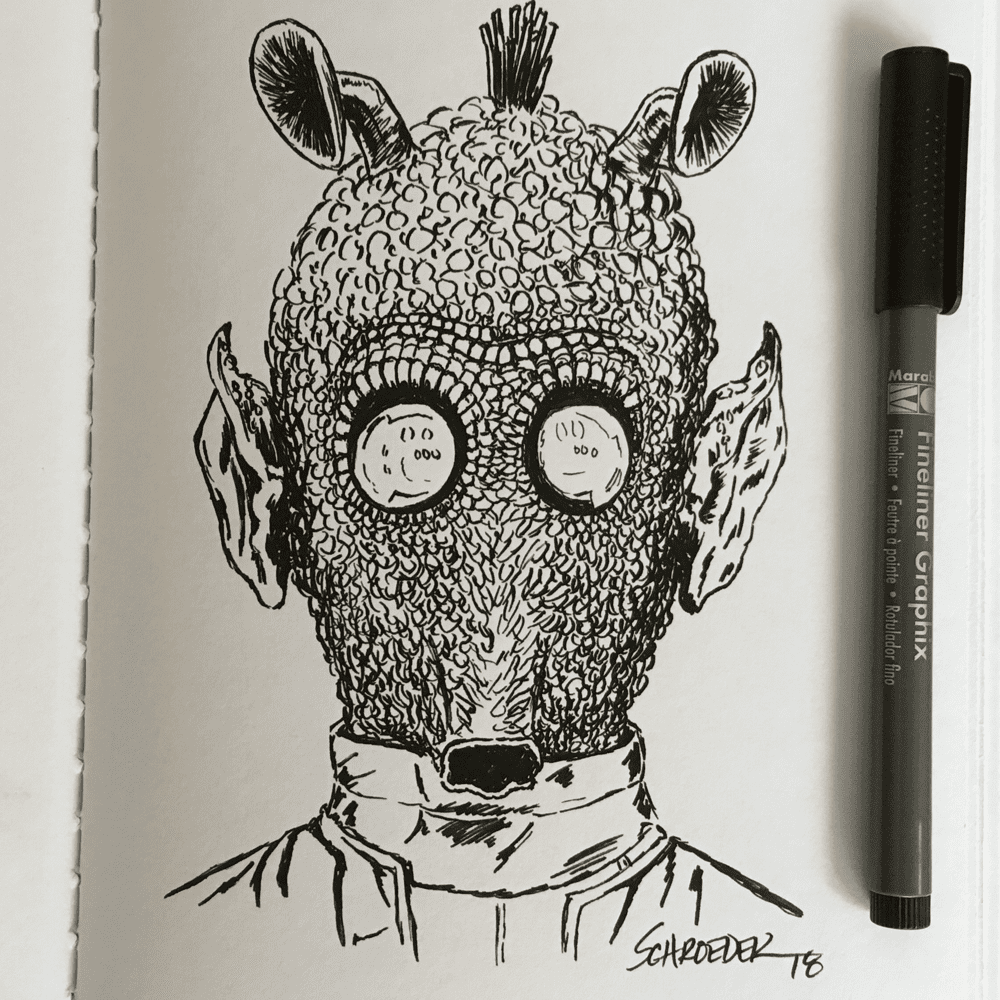 Day 4: Spell Look too long into these eyes and they'll surely put a spelling you. Oh, Greedo!