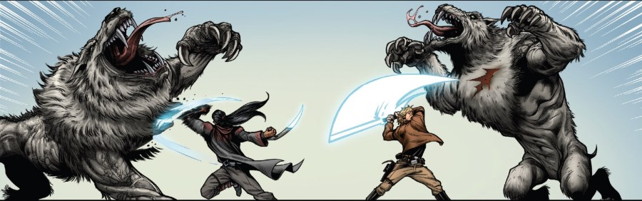Star Wars #58 - Markona and Luke fight Thanrax
