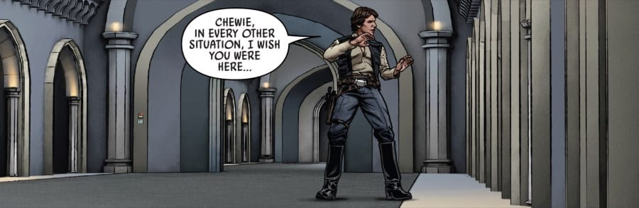 Star Wars #59 - Leia kicks out Han