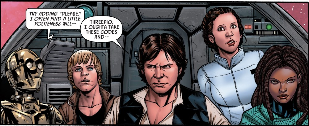 Star Wars #61 - Han in the cockpit
