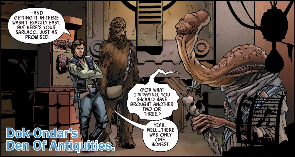 Star Wars Galaxy's Edge #1 Han and Dok-Ondar